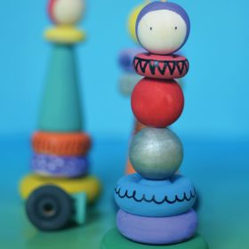 Whimsical Stacking Dolls