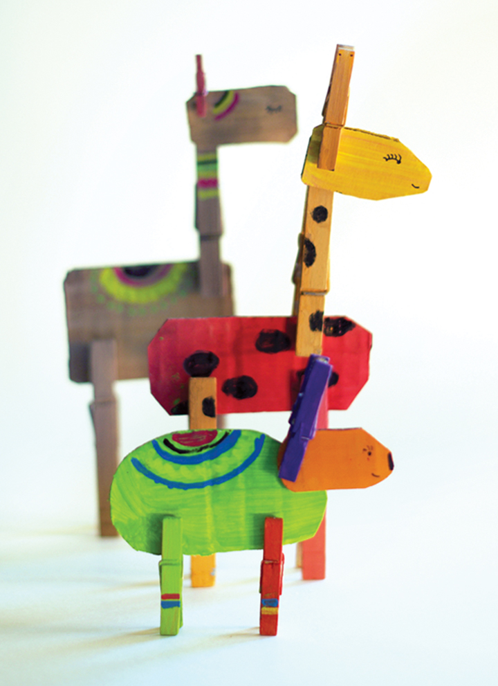 Clothespin Animals | little monster