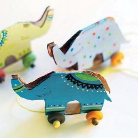 Recycled Cardboard Elephant Toy