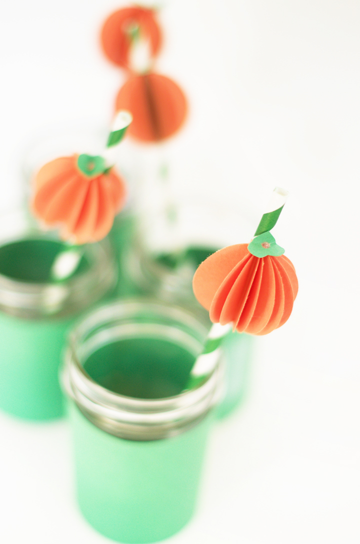 Pumpkin Straw Toppers | little monster