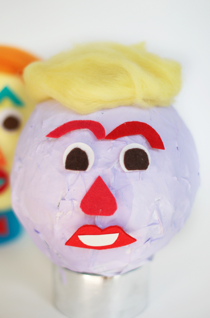 Silly Faces Paper Mache Head | little monster