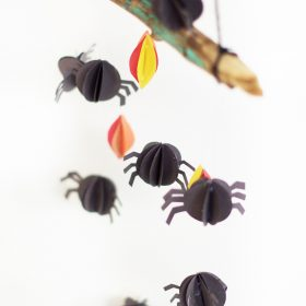 Halloween Paper Spider Mobile