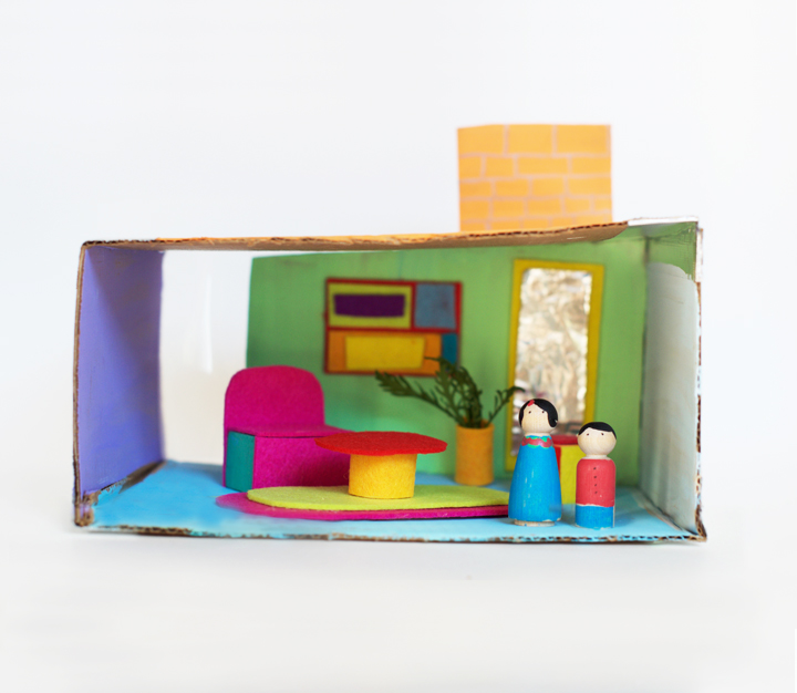 MidCentury Modern Cardboard Playhouse | little monster