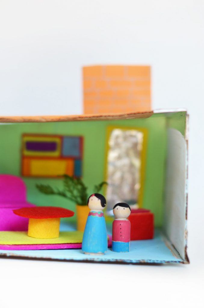 The little monster blog crafts inspired by little ones for Mid century modern toy box
