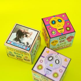 Day of the Dead Coloring Cubes