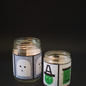 Spooky Halloween Night Candles